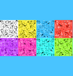 light texture set of scattered polygons for vector image