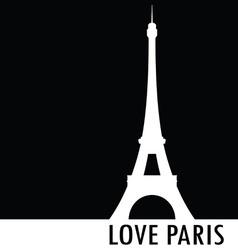 love paris black silhouette vector image