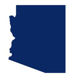 Map arizona in blue colour vector