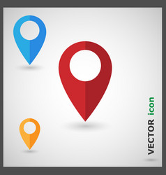 map pin pointer marker icon vector image