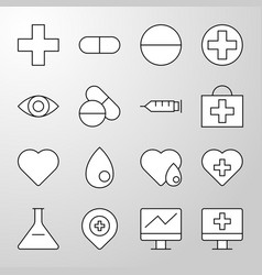 medical hospital health thin line icon vector image