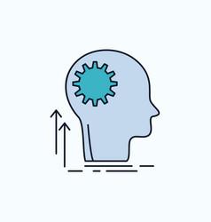 mind creative thinking idea brainstorming flat vector image