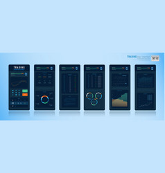Mobile trading user interface 002 vector
