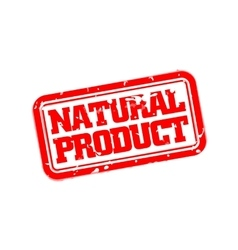 Natural product rubber stamp vector