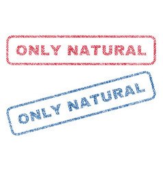 Only natural textile stamps vector