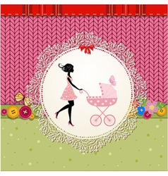 ornament pram khitted vector image