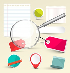 Paper Empty Labels - Tags and Paper Sheets with vector image