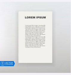 Paper Sheet Template on White Background vector image
