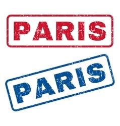Paris Rubber Stamps vector image