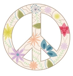 Peace sign vintage vector image