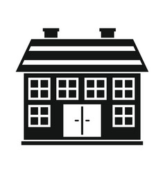 Private residential cottage house flat icon vector