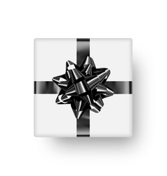 realistic gift box for decorations vector image