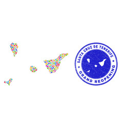 Reopening santa cruz de tenerife province map vector