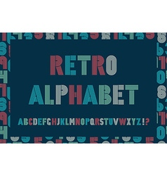 Retro stripes funky fonts seamless pattern vector