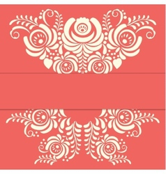 Russian ornaments art frame in gzhel style vector