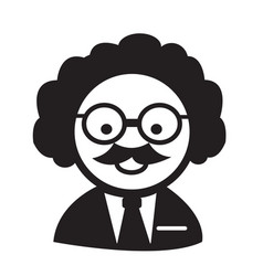 Scientist or professor icon vector