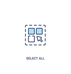 Select all concept 2 colored icon simple line vector