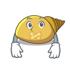 Silent mollusk shell mascot cartoon vector