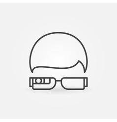 Smartglasses outline icon vector