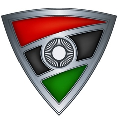 steel shield with flag malawi vector image