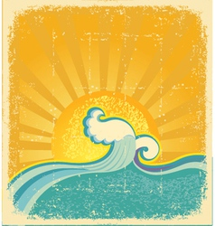 sunrise seascape vector image