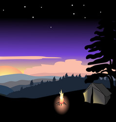 sunset of a summer night vector image