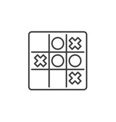 tic tac toe linear icon noughts and vector image