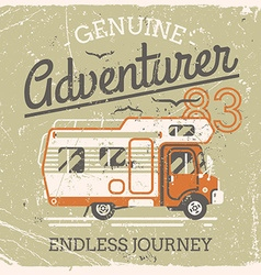 Vintage Adventurer Summer Poster vector