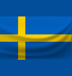 waving national flag of sweden vector image