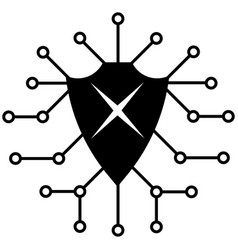 cyber security icon vector image