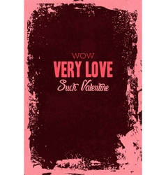 Happy Valentine day Greeting Lettering Card vector image vector image