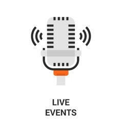 live events icon vector image vector image