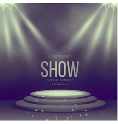 podium with spotlights falling on it vector image