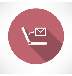 SMS on Laptop icon vector image vector image