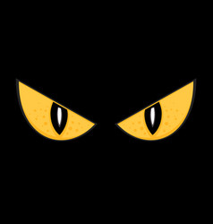 wild spooky monster eyes isolated vector image