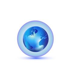 World Global connection logo vector image