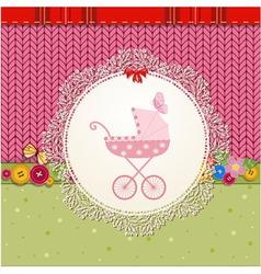 Baby Pram Card vector image