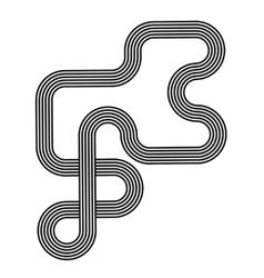 Black White Striped Line Symbol vector image