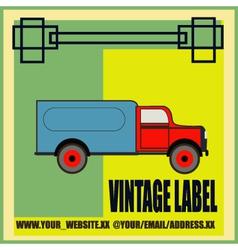 Retro Van Label vector image vector image