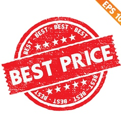 Stamp sticker best price collection - - EPS vector image