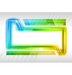 abstract shape rainbow vector image
