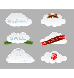 Christmas clouds vector image vector image