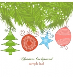 cute Christmas background vector image vector image