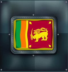 flag of srilanka on metalic background vector image vector image