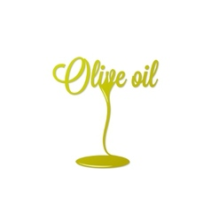olive oil isolated sign vector image vector image