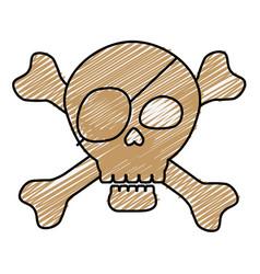 pirate skull icon vector image