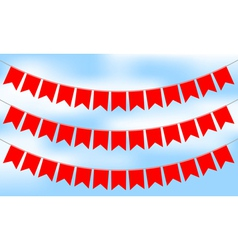 red bunting vector image vector image