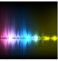 Abstract equalizer background purple-blue-yellowe vector