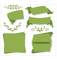 Collection paper origami banner vector image vector image