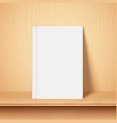 empty white book template vector image